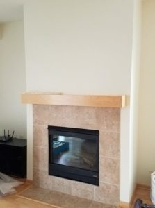 TV Mantel Mount - Before