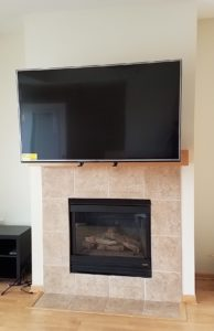 TV Mantel Mount - After, Mid-Position