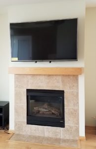 TV Mantel Mount - After, Raised Position